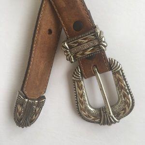 Tony Lama Leather Belt Size 32